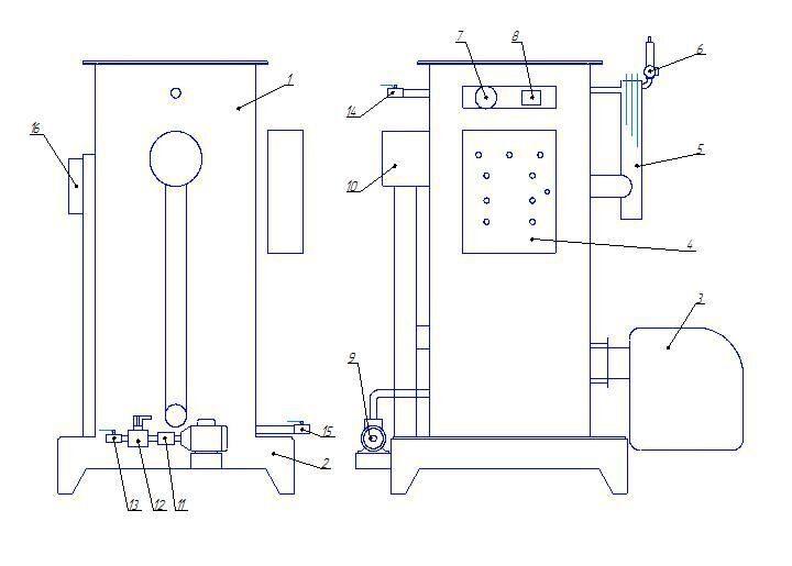 Парогенератор СТ (схема