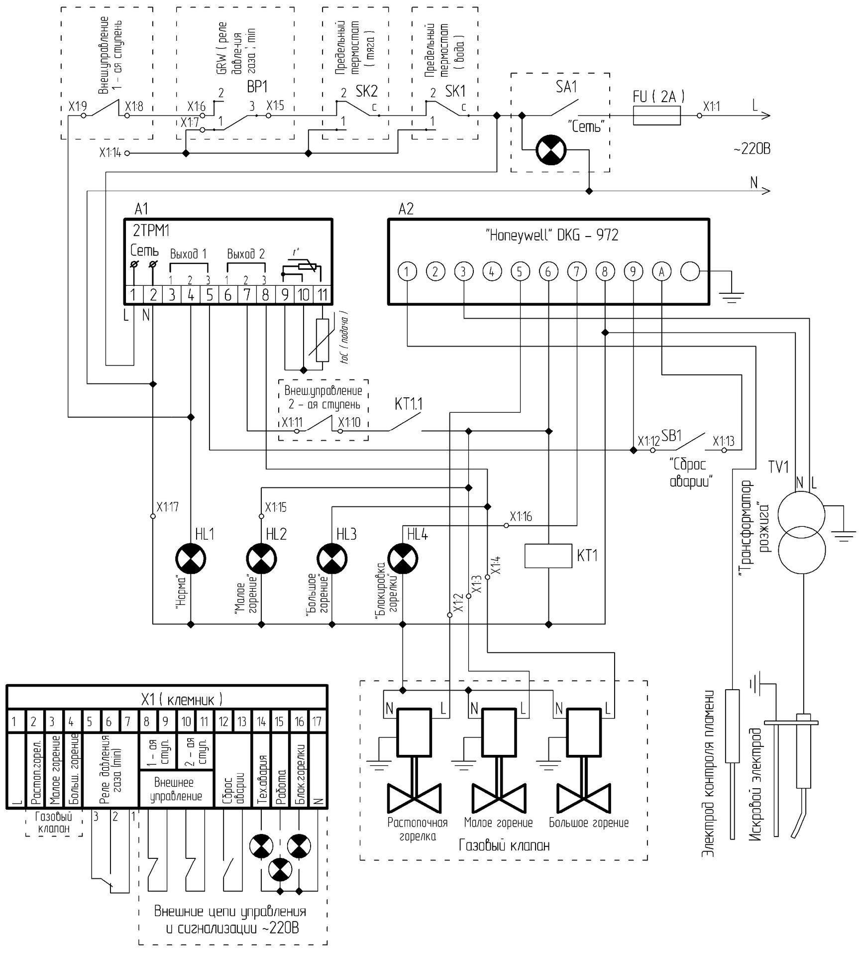 водогрейный котел rossen 80 принципиальная схема